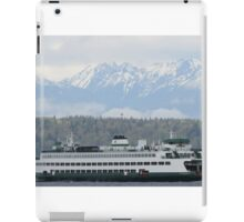 Ferry Walla Walla and Olympic Mountains iPad Case/Skin