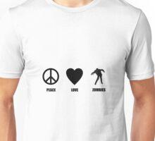Peace Love Zombies Unisex T-Shirt
