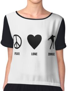 Peace Love Zombies Chiffon Top