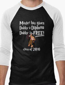 Dobby is Free! Graduation 2016 Men's Baseball ¾ T-Shirt