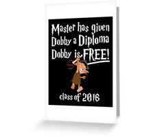 Dobby is Free! Graduation 2016 Greeting Card