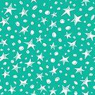 doodle space stars pattern. by BoYusya