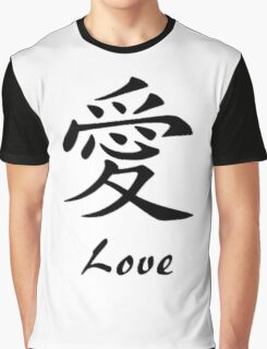 Love in Chinese Writing Graphic T-Shirt