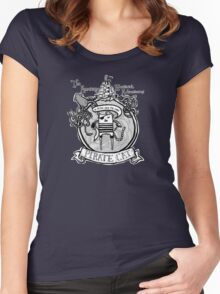 Pirate Cat Sails the Seven Seas Women's Fitted Scoop T-Shirt