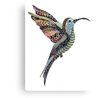 Ink and Watercolour Hummingbird Canvas Print