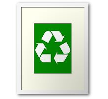 Reduce, Reuse, ... Framed Print