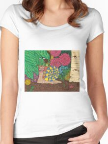Snail's Eye View Women's Fitted Scoop T-Shirt