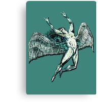 ICARUS THROWS THE HORNS - lightning bolts Canvas Print