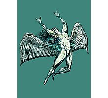 ICARUS THROWS THE HORNS - lightning bolts Photographic Print