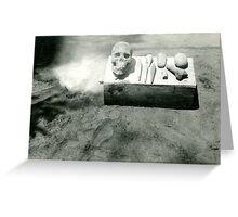 Found Photo Halloween Card - Dug Up Skull Greeting Card