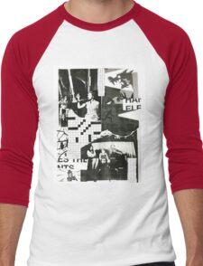 Vintage Grunge Collage Men's Baseball ¾ T-Shirt