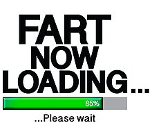 Fart Now Loading - Green Bar Photographic Print
