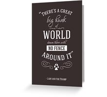 Theres a great big hunk of world down there Greeting Card