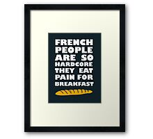 French People Framed Print