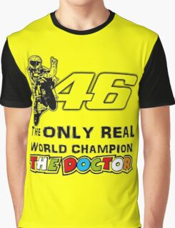 VR46, Valentino Rossi the real world Champion Graphic T-Shirt