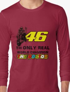 VR46, Valentino Rossi the real world Champion Long Sleeve T-Shirt