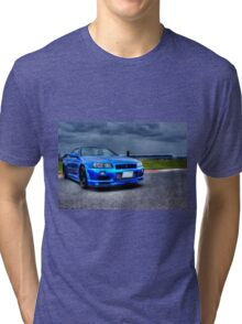 Nissan Skyline in HDR Tri-blend T-Shirt