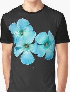 TURQUOISE FLOWER POWER  Graphic T-Shirt