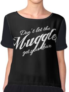 Don't let the Muggles get you down white Chiffon Top