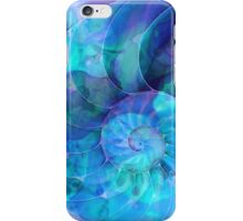 Blue Nautilus Shell By Sharon Cummings iPhone Case/Skin