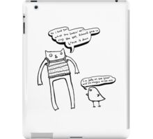 McHammer Cat & the Rapty Bird (with white fill) iPad Case/Skin