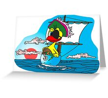 """Rick the chick """"BUCCANEER"""" Greeting Card"""