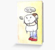 Fat Rabbit Greeting Card