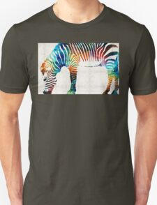 Colorful Zebra Art by Sharon Cummings Unisex T-Shirt