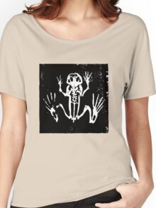 Tree Frog Skeleton - Museum Linocut Collection Women's Relaxed Fit T-Shirt