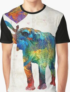 Colorful Elephant Art - Elovephant - By Sharon Cummings Graphic T-Shirt