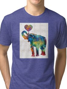 Colorful Elephant Art - Elovephant - By Sharon Cummings Tri-blend T-Shirt