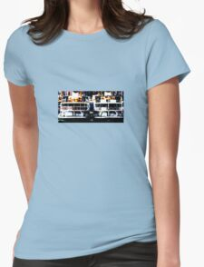 Funny boat Womens Fitted T-Shirt
