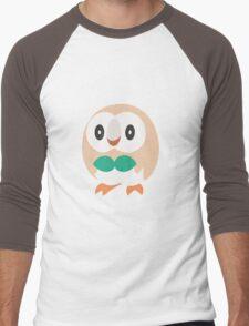 Rowlet Vector (Pokemon) Men's Baseball ¾ T-Shirt