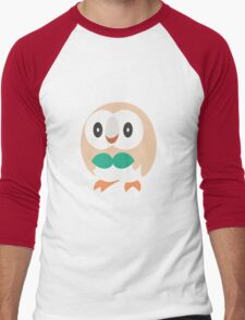 Rowlet Vector (Pokemon) Men's Baseball ¾ T-Shirt