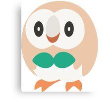 Rowlet Vector (Pokemon) Canvas Print