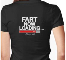Fart Now Loading - Red Variant Womens Fitted T-Shirt