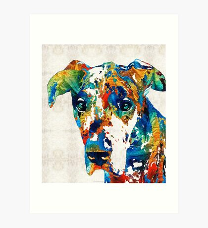 Colorful Great Dane Art Dog By Sharon Cummings Art Print