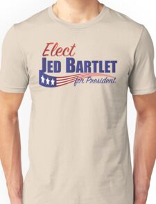 Elect Jed Bartlet for President with Flag Underline Unisex T-Shirt