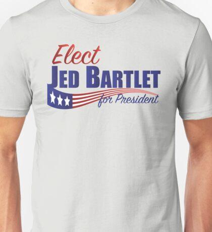 Elect Jed Bartlet for President with Flag Underline Unisex T-Shirt