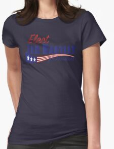 Elect Jed Bartlet for President with Flag Underline Womens Fitted T-Shirt