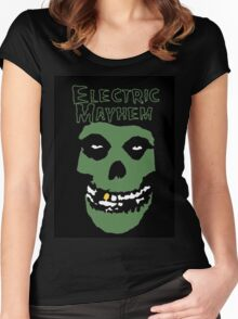 Electric Mayhem Parody Logo Women's Fitted Scoop T-Shirt