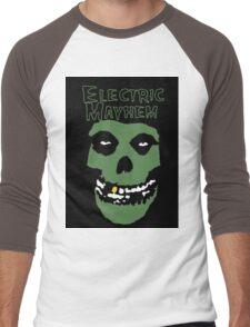 Electric Mayhem Parody Logo Men's Baseball ¾ T-Shirt