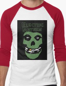 Electric Mayhem Parody Logo Men's Baseball ¾ T-Shirt