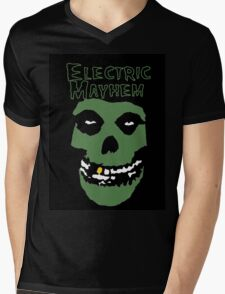 Electric Mayhem Parody Logo Mens V-Neck T-Shirt