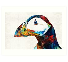 Colorful Puffin Art By Sharon Cummings Art Print