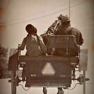 Amish Father and Daughter Buggy by angelandspot