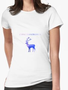 Expecto Patronum Galaxy Design Womens Fitted T-Shirt