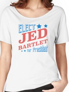 Elect Jed Bartlet for President Star Slants Women's Relaxed Fit T-Shirt