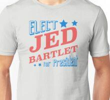 Elect Jed Bartlet for President Star Slants Unisex T-Shirt