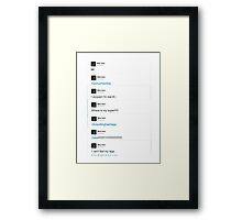 the best of mike faist tweets Framed Print